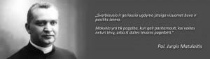 Pal. Jurgis Matulaitis apie vaikų ugdymą šeimoje